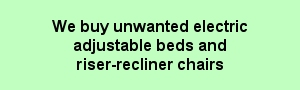 We buy unwanted electric adjustable beds